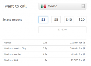 Cheaper rates in an app for international calls